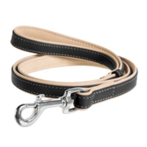 CC WAUDOG Soft Leathr Leash,Black top (W-25mm, L-183cm) offer at 337 Dhs
