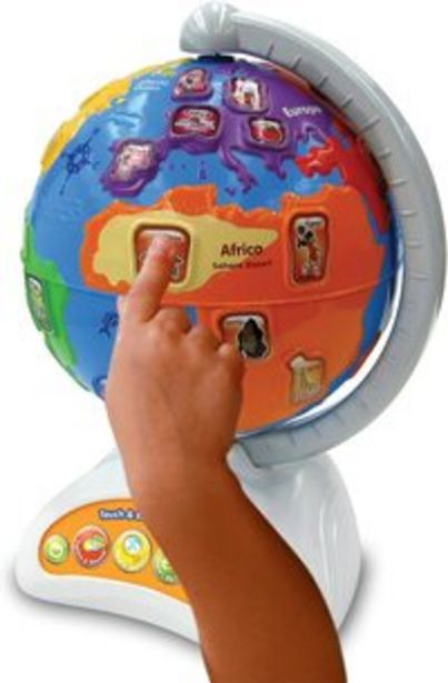 Vtech Touch And Teach Preschool Learning Adventure Learning Globe offer at 193 Dhs