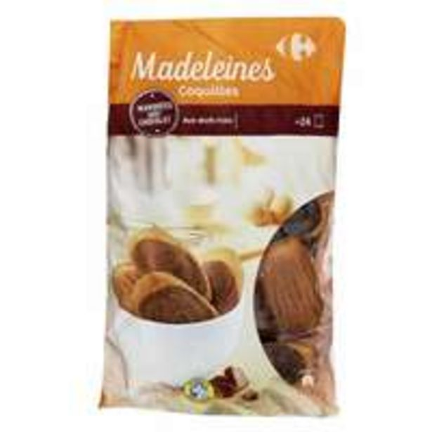 Carrefour Madeleine with Chocolate 600g offer at 18,75 Dhs