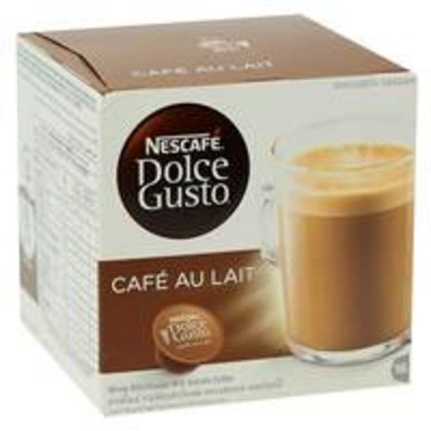 Nescafe Dolce Gusto Cafe Au Lait Coffee 16g x 10 Capsules offers at 27 Dhs