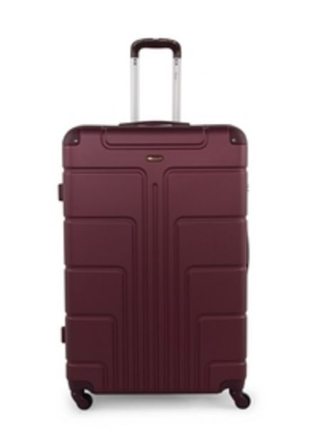 Senator Hardside Small Check-in Size 63 Centimeter (24 Inch) 4 Wheel Spinner Luggage Trolley in Burgundy Color A1012-24_BGN offer at 119 Dhs