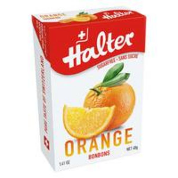 Halter Sugar Free Orange 40g offer at 4,2 Dhs