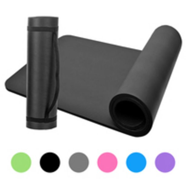 Esonmus-10mm Thick Yoga Mat Non-Slip Exercise Mat Pad with Carrying Strap and Mesh Bag for Home Gym Fitness Workout Pilates offer at 32 Dhs