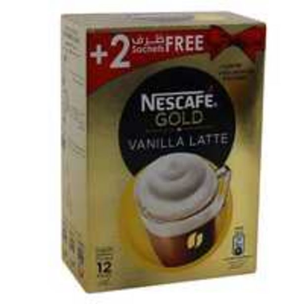 Nescafe Gold Vanilla Cappuccino Instant Coffee 18.5g x 12 Sachet offer at 26,25 Dhs