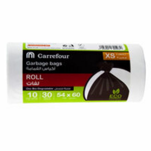 Carrefour Garbage Bags 30 Pieces (Pack of 4) offer at 12 Dhs