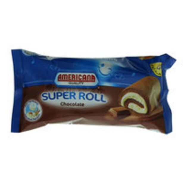 Americana Chocolate Super Roll 60g offer at 1,15 Dhs