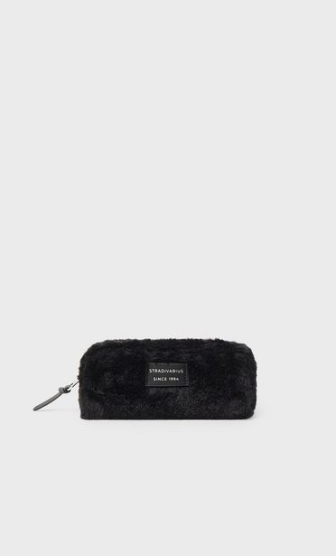 Fuzzy toiletry bag offers at 59 Dhs