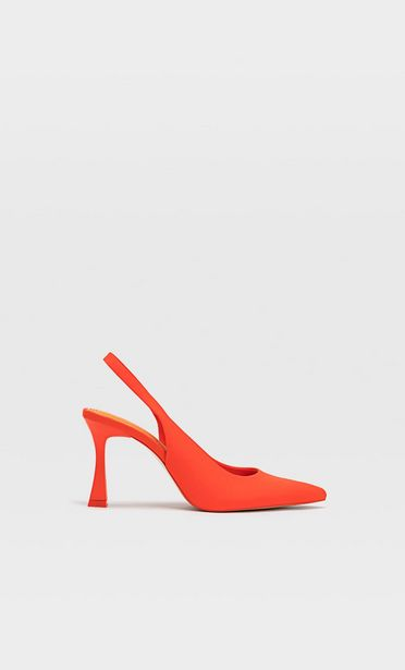 Heeled slingback shoes offers at 179 Dhs