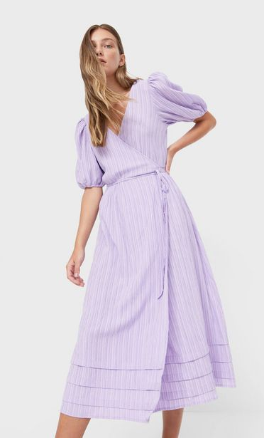 Wrap midi dress offers at 199 Dhs