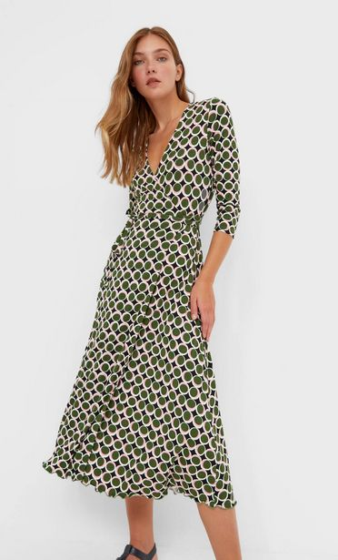 Wrap midi dress offers at 159 Dhs