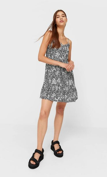 Printed strappy dress offers at 129 Dhs