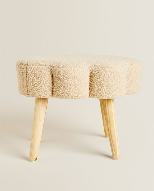 Faux Shearling Cloud Stool offers at 349 Dhs