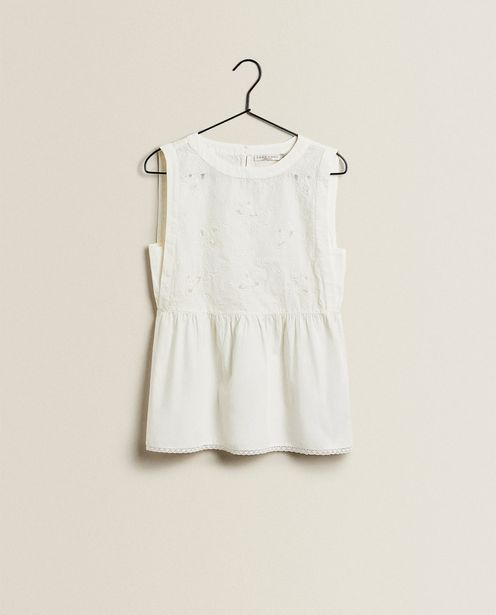 Cotton Top With Embroidery offers at 189 Dhs
