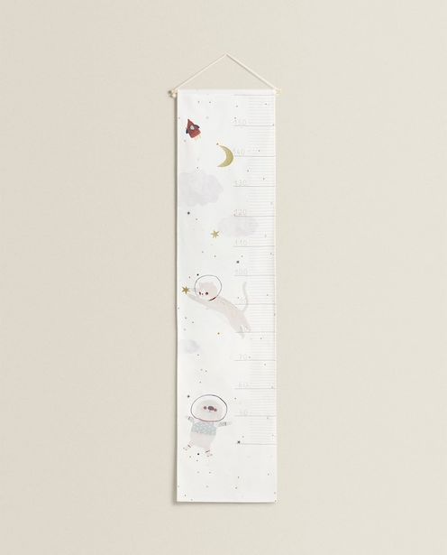 Children'S Wall Height Chart With Dog Details offers at 159 Dhs