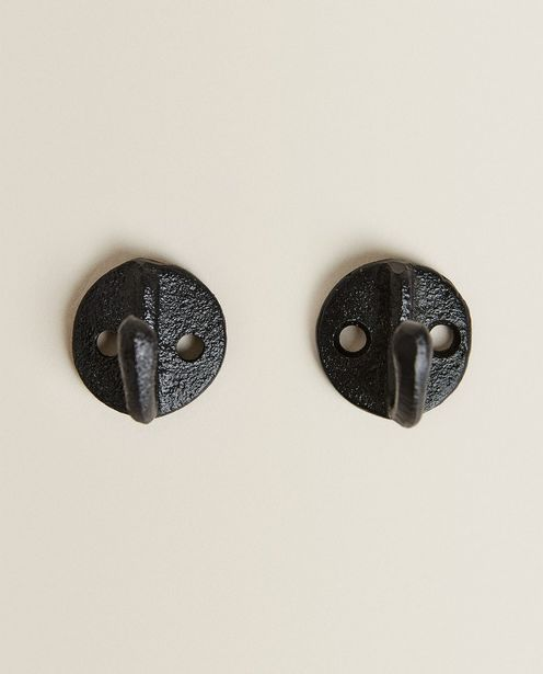 Antique-Effect Metallic Hook (Pack Of 2) offers at 129 Dhs