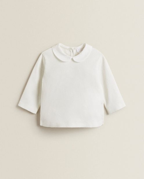 Cotton T-Shirt With Collar offers at 129 Dhs