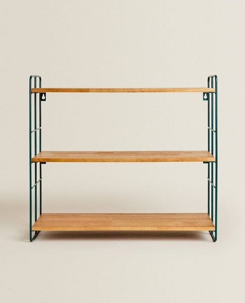 Metal And Wood Wall Shelf offers at 349 Dhs
